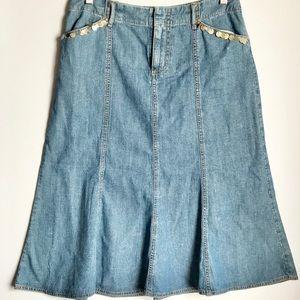 Kate Hill Hobo Denim Skirt/Size 4.